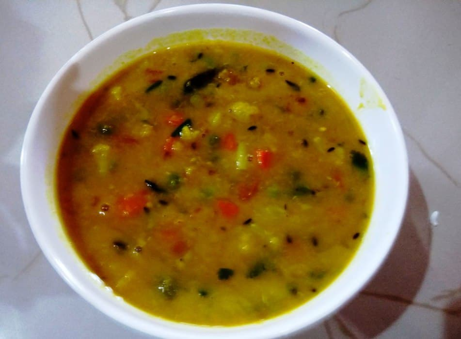 Indian Vegan Moong Dal (Veg Dal) Recipe